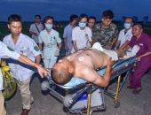 بالصور.. استمرار نقل عشرات المصابين جراء زلزال الصين