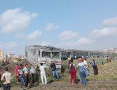 محافظ الإسكندرية: خروج 34 حالة من مصابى حادث تصادم القطارين