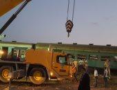 وزيرة التضامن الاجتماعى تصل إلى موقع حادث قطارى الإسكندرية لمتابعة الموقف