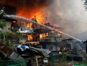 الحرس الوطنى الروسى يرسل 3 مروحيات لإخماد حريق فى مدينة روستوف
