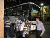 بالصور.. محافظة البحيرة توفر 97 أتوبيسا لنقل ركاب القطارات للإسكندرية