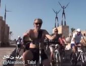"""بالفيديو.. الوليد بن طلال يروج لشرم الشيخ عبر تويتر بـ""""الدراجة وتسلق الجبال"""""""