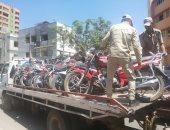 ضبط 164 دراجة بخارية وتحرير 2311 مخالفة مرورية فى حملة بالبحيرة