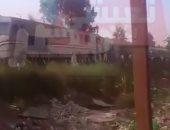 بالفيديو.. لحظة اشتعال النيران فى قطار  أسوان – القاهرة