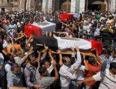 """حتى لا ننسى إرهاب الإخوان.. جنازات شهداء الشرطة فى """"رابعة"""""""
