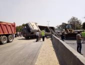 إصابة 15 عاملا فى حادث انقلاب سيارة ميكروباص بالإسماعيلية