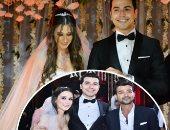 """بالفيديو.. محمد أنور يغنى فى حفل زفافه: """"يخرب بيتك يا جواز فلستنى وفلقت"""""""