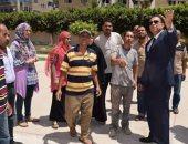 رئيس جامعة المنوفية يتفقد المدن الجامعية والصالة المغطاة
