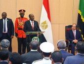 رئيس تنزانيا يشيد للسيسى بالتعاون الاقتصادى والتبادل التجارى بين البلدين