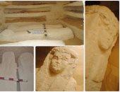 اكتشاف 3 مقابر تعود للعصر البطلمى بالمنيا