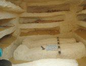 ننشر صورا جديدة لـ 3 مقابر مكتشفة حديثا فى المنيا