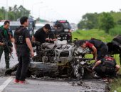 بالصور..مقتل جندى وإصابة 20 آخرين فى انفجار قنابل زرعها متمردين بتايلاند