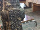 """""""الآثار"""" تعلن ضبط تمثال أثرى يعود للعصر المتأخر.. تعرف على التفاصيل"""