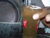 مياه شرب تشبه لون عصير القصب بسبب اختلاطها بالصرف الصحى فى منوف