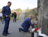 بالصور.. الرئيس الروسى يزور نصب تذكارى يرجع إلى الحرب العالمية الثانية