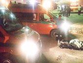 مصرع شخصين فى حادث تصادم ميكروباص ودراجة نارية بزراعى البحيرة