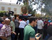 بالصور.. توافد العشرات على مسجد الحمد بالمقطم لتشييع جنازة رفعت السعيد
