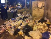 القمامة تحتل شارع سوريا بالإسكندرية.. وقارئ: من حقنا نعيش فى بيئة نظيفة