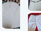"""""""بدل ما ترميها"""".. ربة منزل تبتكر أفكارًا جديدة لإعادة تدوير الملابس القديمة"""