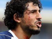 إصابة أحمد حجازى فى مباراة وست بروميتش وبيرنلى