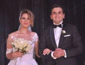 "بالصور.. مصطفى خاطر خلال حفل زفافه: ""محدش يصور بموبايله.. أنا مكلف وجايب مصورين"""
