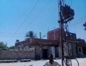 بالصور..تغيير جميع أسلاك الجهد المتوسط بقرية بصرة لكابلات كهربائية مغطاة