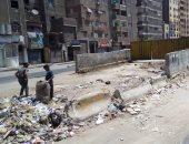 شكوى من انتشار القمامة ومخلفات البناء أعلى كوبرى المطرية