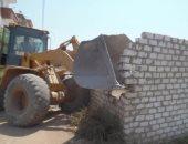 إزالة 42 حالة تعد على الأراضى الزراعية ومخالفات بناء بالمحلة