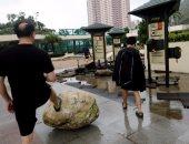 """بالصور..إلغاء الرحلات الجوية وانقطاع الكهرباء فى الصين بسبب إعصار """"هاتو"""""""