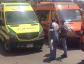 إصابة شخصين فى اصطدام سيارة بـ4 لوحات إعلانات بالإسكندرية