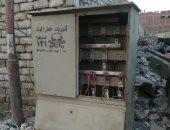 محذرا من كارثة.. قارئ يطالب بصيانة كابينة كهرباء بدون غطاء فى المرج