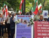 بالصور.. معارضة إيران تنظم وقفة احتجاجية بباريس تضامنا مع السجناء السياسيين