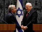 بالصور.. الأمين العام للأمم المتحدة يجتمع برئيس إسرائيل