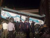 مصرع 4 عمال وإصابة 16 آخرين بحادث تصادم أتوبيس وسيارة نقل بالقاهرة