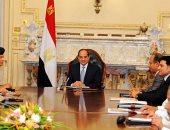 الرئيس السيسي يجتمع بمحافظى الإسكندرية والبحيرة