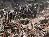 مصرع شخص فى انهيار مبنى سكنى بكراتشى الباكستانية