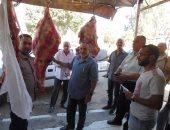 بالصور.. حملات مكبرة على أسواق اللحوم والدواجن بكفر الشيخ