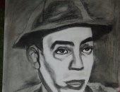 """بالصور.. قارئ يشارك بمجموعة لوحاته الفنية للمشاهير باستخدام """"الفحم"""""""