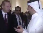 بالفيديو.. حرس الرئيس التركى يهين الإعلامى القطرى عبد الله العذبة