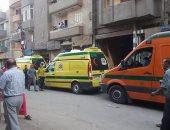 نقل طالب لمستشفى ميت غمر أصيب بحالة إغماء أثناء جمع أوراق الإجابة