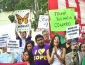 """بالصور.. مظاهرات مناهضة لقرار ترامب بشأن قانون """"داكا"""" لحماية المهاجرين"""