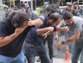 """بالفيديو.. اشتباكات فى """"خيرونا"""" بكتالونيا بين قوات مكافحة الشغب والمواطنين"""