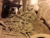 انهيار عقارين بحى الجمرك غرب الإسكندرية دون خسائر فى الأرواح