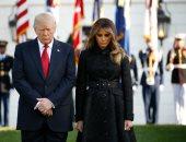بالصور.. ترامب وميلانيا يقفان دقيقة حدادا فى الذكرى الـ16 لهجمات 11 سبتمبر