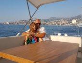 نانسى عجرم تنشر صورة مع زوجها فادى الهاشم فى رحلة على اليخت
