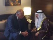 شكرى وقرقاش يبحثان مستجدات أزمة قطر.. ويؤكدان تكثيف جهود مكافحة الإرهاب