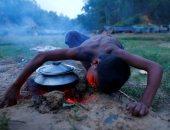 بالصور.. لاجئو الروهينجا فى مخيم ببنجلادش يشكون قلة الطعام