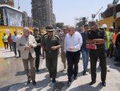 اللواء كامل الوزير يتفقد مشروع محور روض الفرج