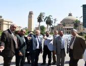 رئيس جامعة القاهرة يتفقد استعدادت الحرم الجامعى للعام الدراسى الجديد