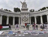 نتنياهو ضيف ثقيل على المكسيك.. مواطنون يستقبلونه بعلم فلسطين وصور الانتهاكات